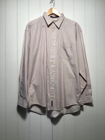 Tommy Hilfiger Striped Long Sleeve Shirt (Size L)