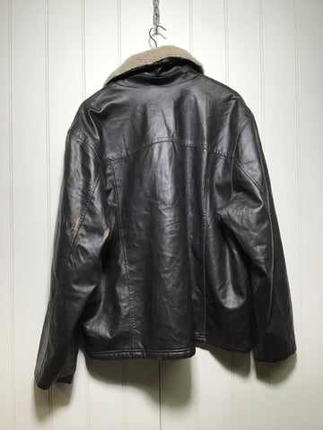 Lee Faux Leather Fleece Lined Jacket (Size L)