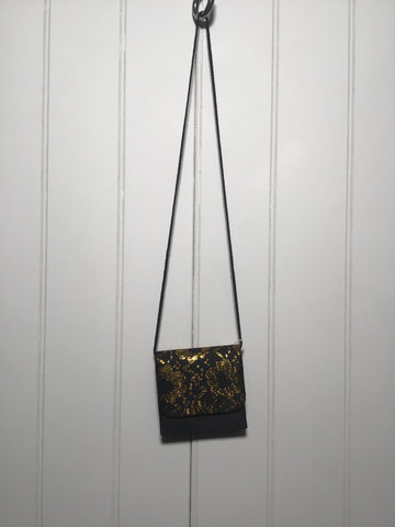 Gold Floral Evening Bag