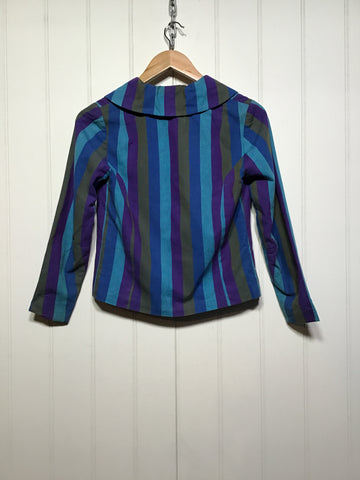 Striped Cropped Blazer (Size XS/S)