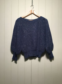 Metallic Boat Neck Knit (Size M)