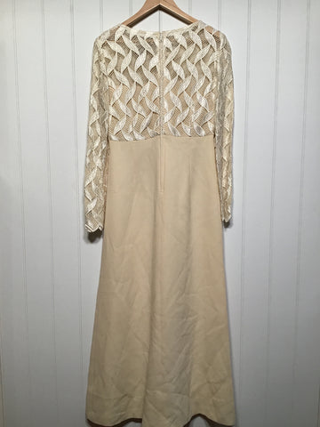 Ivory Evening Dress (Size L)
