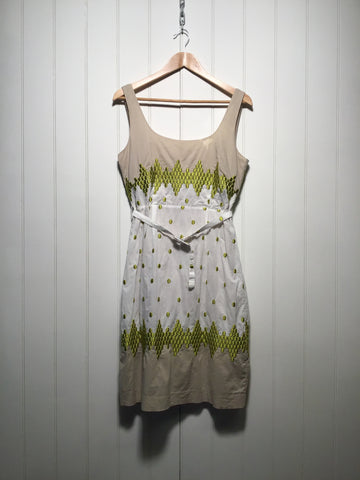 Nougat Embroidered Summer Dress (Size M)