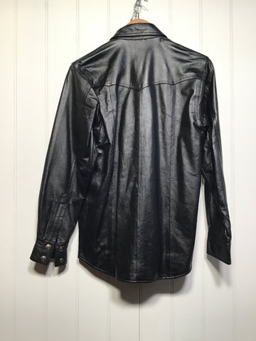Harley Davidson Leather Shirt Jacket (Women's Size S)