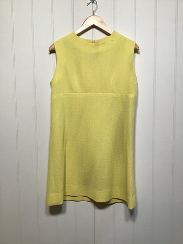 Yellow 60's Mini Dress (Size M)