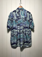 Pure Silk Wave Shirt (Size M)