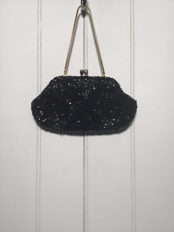 Beaded Fabric Evening Bag