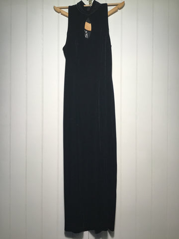 Tower Sheer Back Evening Dress (Size S)