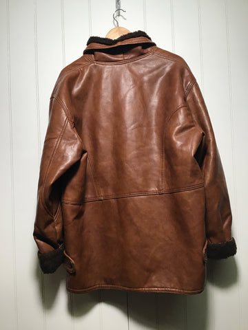 Faux Leather Flying Jacket (Size L)