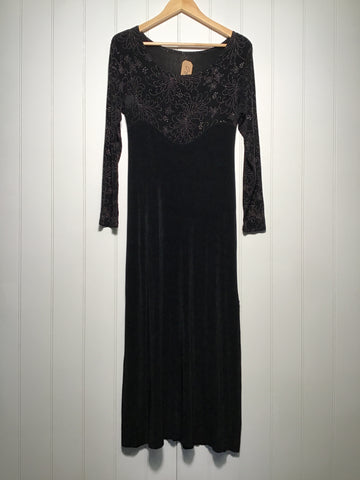Glitter Embroidered Evening Dress (Size L)