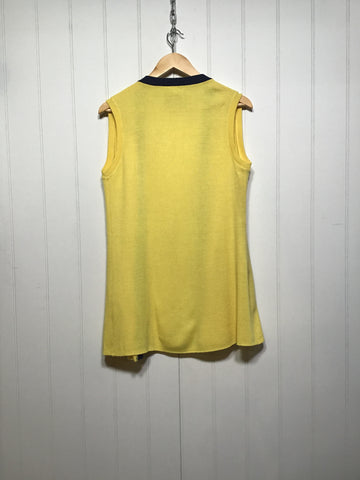 Yellow Sleeveless Cardigan (Size S/M)