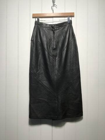 Long Leather Skirt (Size S)