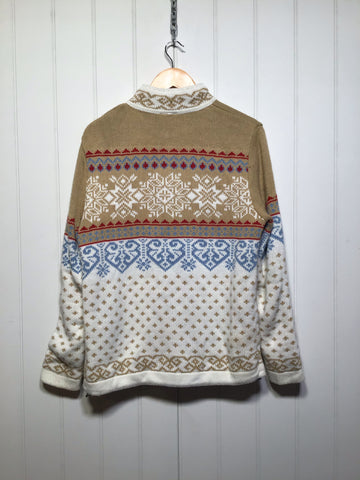 Knitted Zip Up Ski Jumper (Size L)