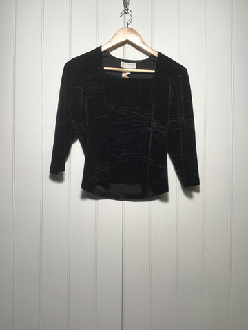BB Studio Velvet Evening Top (Size M)