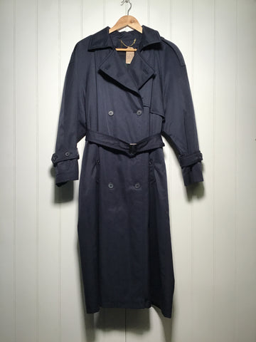 Belted and Lined Trench Coat (Size M/L)
