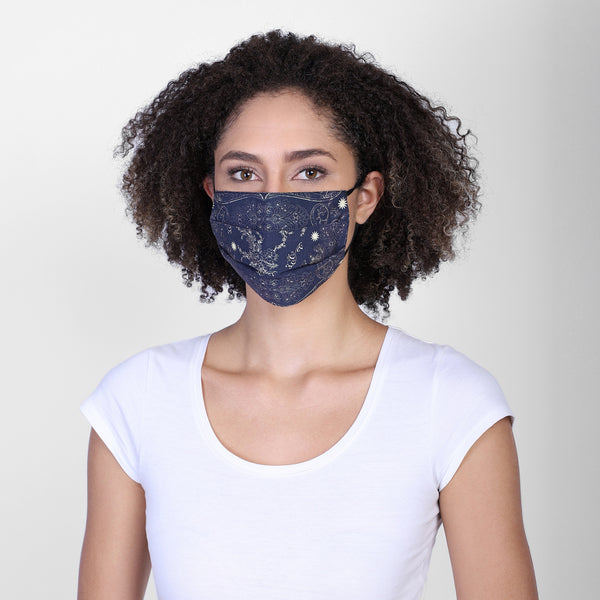 Paisley reversible face mask