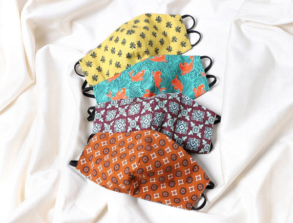 Geometric Reversible Face Mask - Set of Four