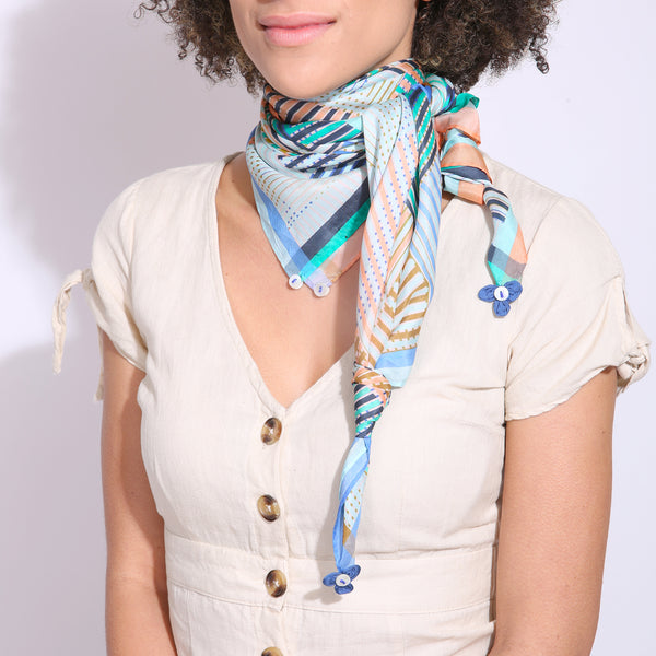 Patchwork Stripes Scarf