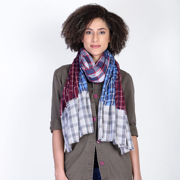Mixed Plaid Scarf