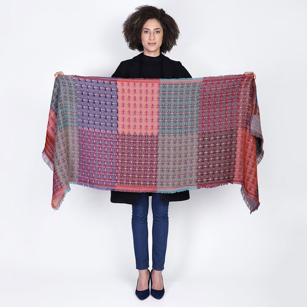 Color Block Jacquard Scarf