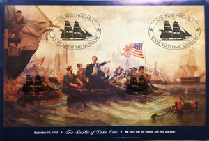 "W.H. Powell Battle Of Lake Erie Poster 36"" X 24"""