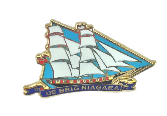 US Brig Niagara Enameled Lapel Pin
