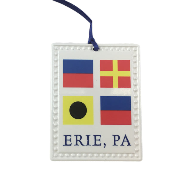 Decorative Medallion - ERIE Signal Flags