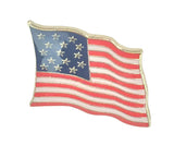 1813 American Flag Enameled Lapel Pin