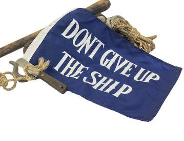 Don't Give Up The Ship 1' x 1.6' Flag/Burgee
