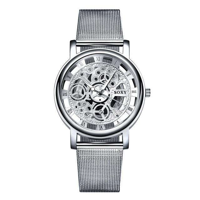 Fashion SOXY Watch Silver Luxury Hollow Steel