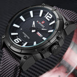 Top Brand Military Watches Men Fashion Casual Canvas Leather