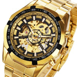 Winner Watch Men Skeleton Automatic Mechanical Watch Gold Skeleton Vintage Man Watch Mens