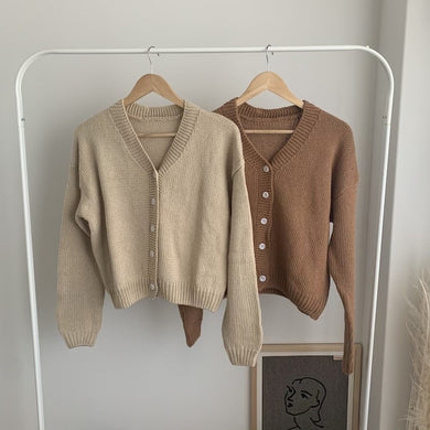 toweling cardigan