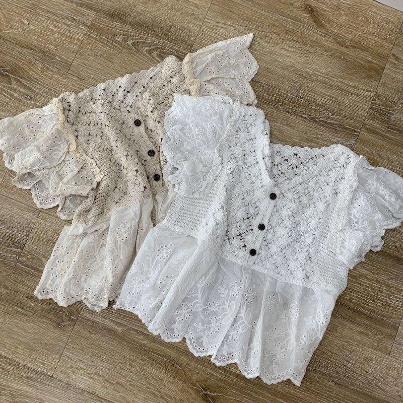 flower lace tops