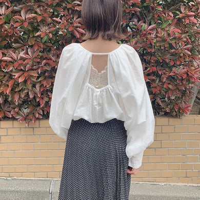back hole blouse