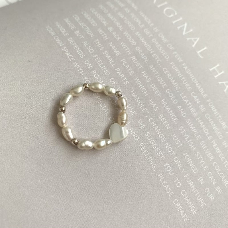 heart beads ring