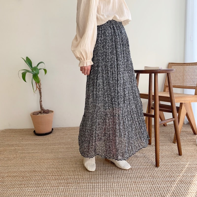 flower long skirts