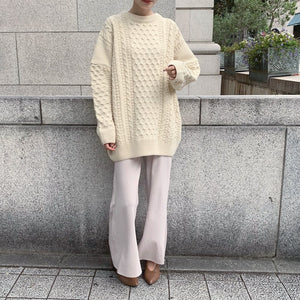 over silhouette knit