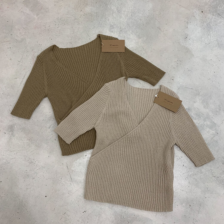 【予約】Chest open lib knit