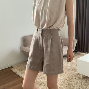 【予約】Linen easy short pants