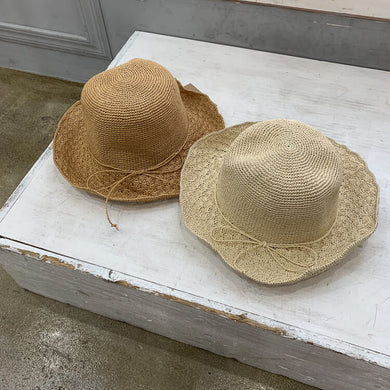 【予約】Side ribbon straw hat