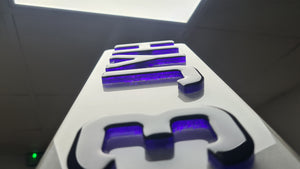 Neon 4D Plates - available in purple