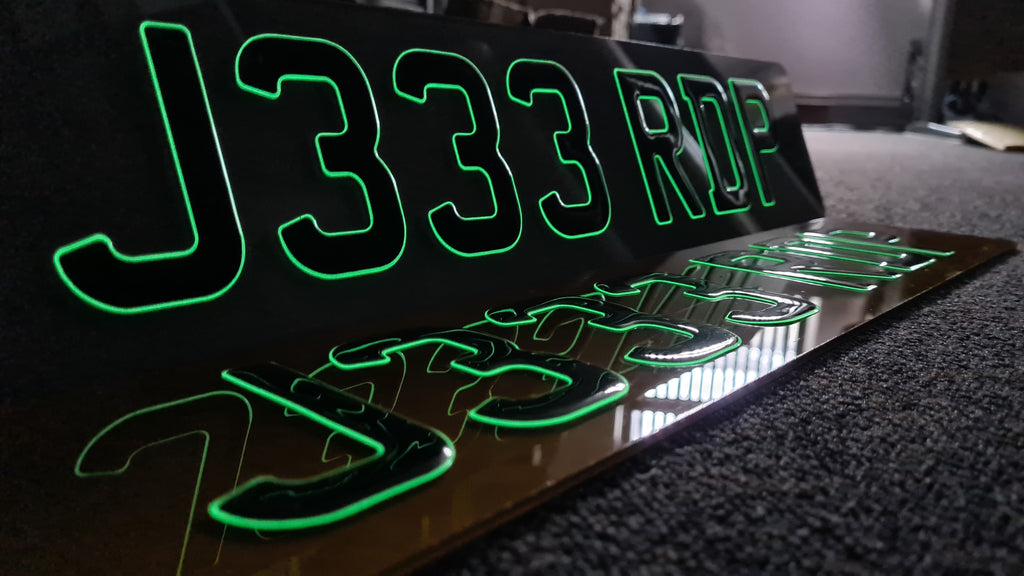 Glow in the dark gel plates are popular this week