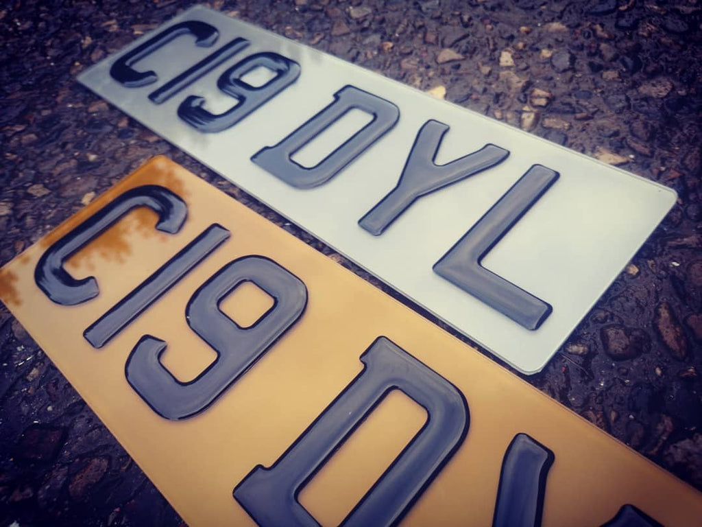 3D Gel tinted short numberplate
