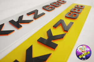 A BESPOKE 4D NEON plate going out today