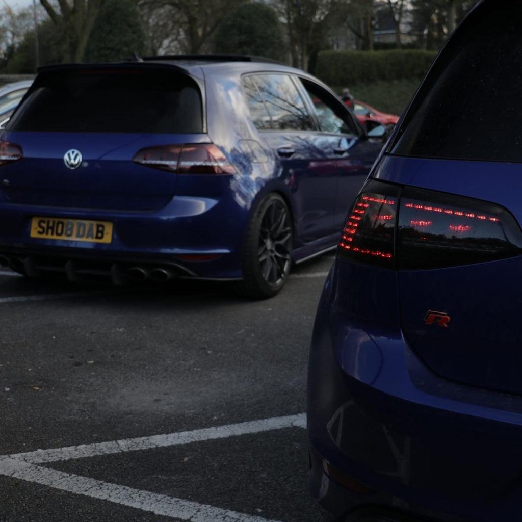 Double trouble! - Twin VW Golf Rs with 4D plates