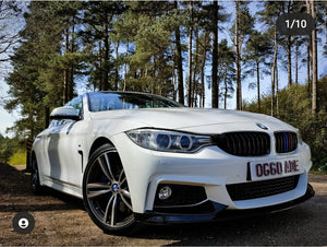 BMW 4 Series looking stunning with a neon 4D plate