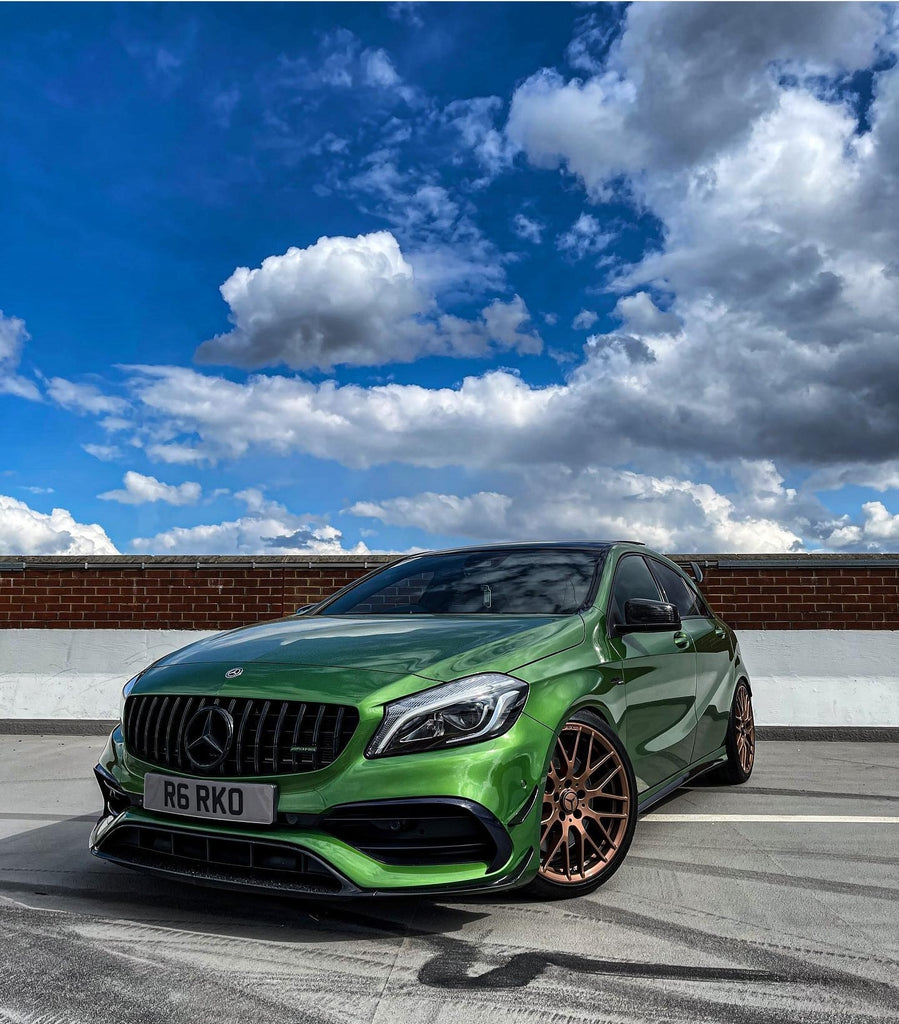 This tuned AMG A45 in green look gorgeous
