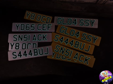3D Glow in the Dark Gel Number Plate