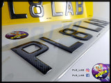 3D Carbon Gel Number Plate-PL8 LAB
